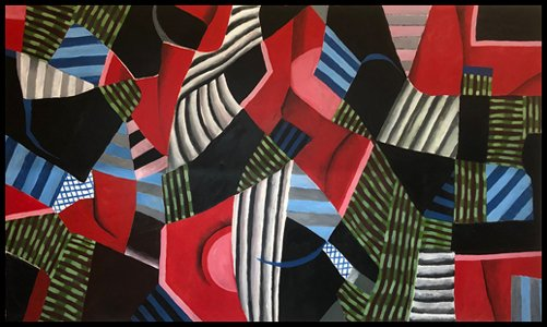 """Red Desert""  60"" X 102""  acrylic on canvas"