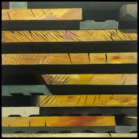 """Lumber #3""  40"" X 40""  acrylic on canvas"