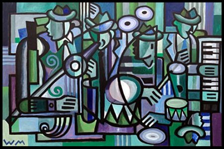 """Quintet #7""  48"" X 72""  acrylic on canvas"